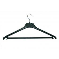 Cintres simple noir en plastique avec barre