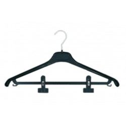 Cintres noir en plastique (combiné avec pinces)