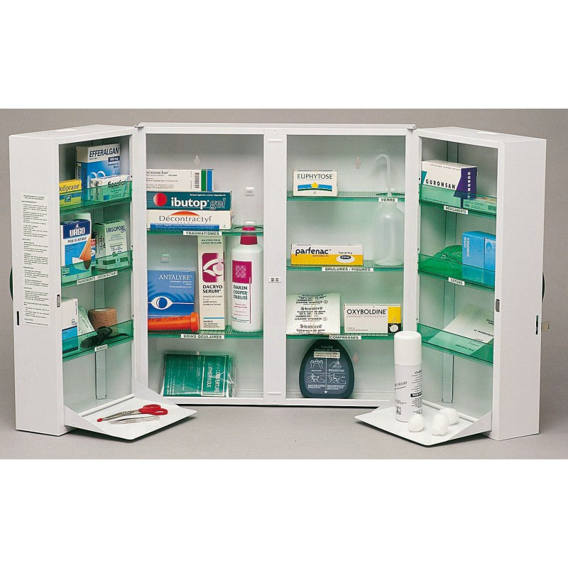 armoire pharmacie clinix 2 portes r50201 h tels collectivit. Black Bedroom Furniture Sets. Home Design Ideas