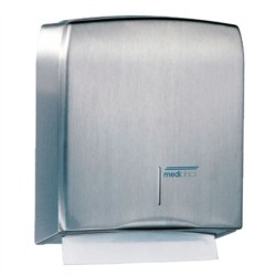 DISTRIBUTEUR FEUILLE A FEUILLE INOX SATINE