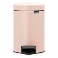 POUBELLE A PEDALE NEWICONE 3L ROSE ARGILE