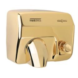 Sèche-mains bouton poussoir Saniflow doré
