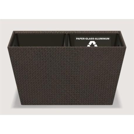 Poubelle de recyclage conique Pandan - Dim cm H28 * L48 * L25 - Java