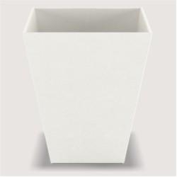 Corbeille Pyramid Wave Leatherette - Dim cm H30 * L25 * L25 - Blanc