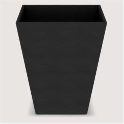 Corbeille Cube Wave Leatherette - Dim cm H27 * L20 * L20 - Black