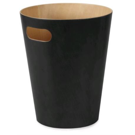 Corbeille écologique Woodrow noir 8L