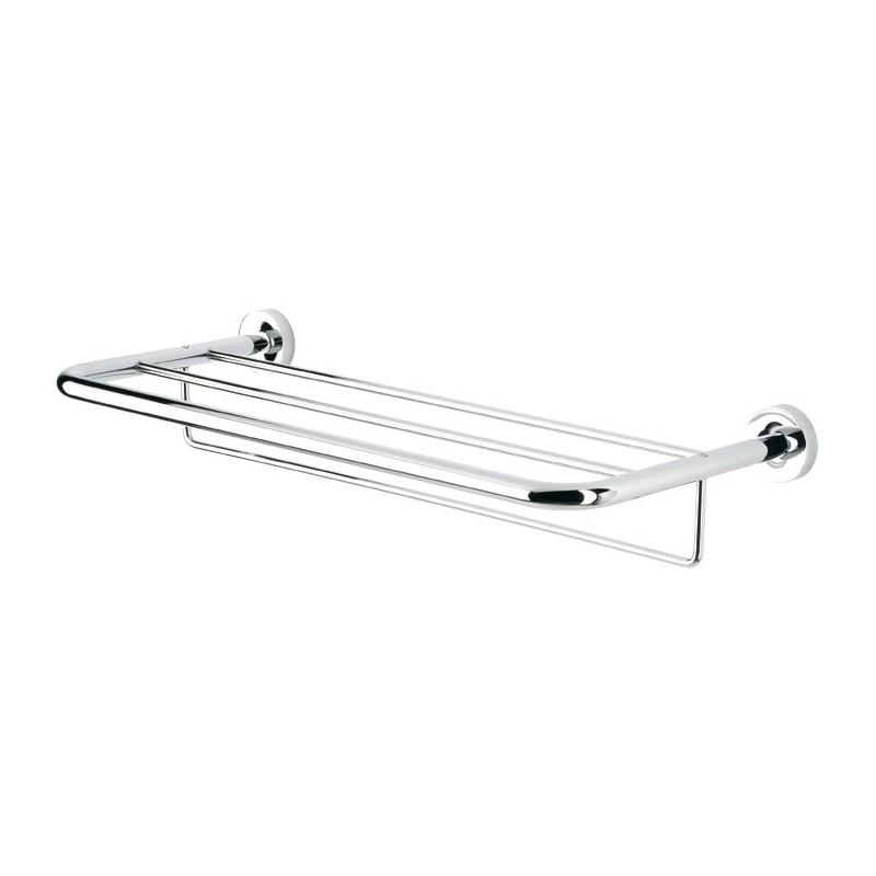 Plateau pour serviettes de bain avec porte serviettes 60 for Bain avec porte prix